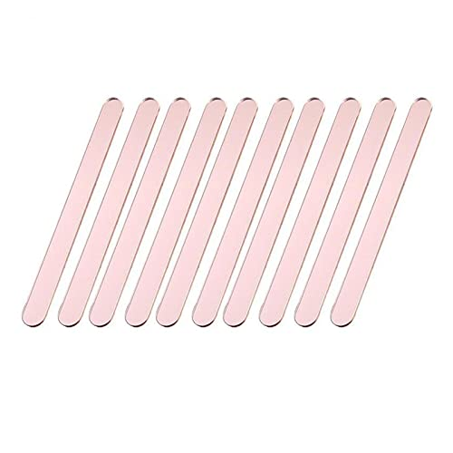 Multi-purpose 10pcs Useful Acrylic Ice Cream Sticks Popsicle Stick Kids Crafts DIY Handmade Making Crafts Baby Shower Kids Gift for Popsicle Sticks Plants Identifiers ( Color : 10pcs Rose Gold )