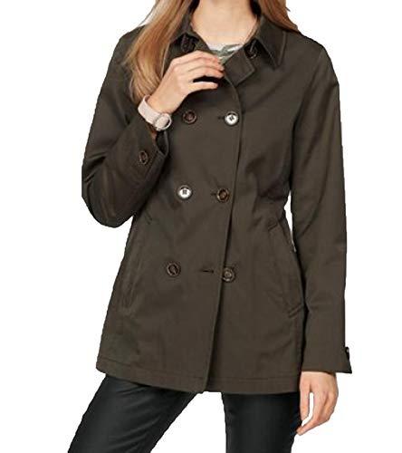 FUCHS & SCHMITT Übergangs-Jacke Schlichte Damen Caban-Jacke mit doppelter Knopfleiste Outdoor-Jacke Freizeit-Jacke Khaki, Größe:34