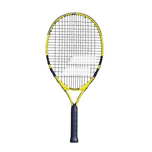 Raquetas De Tenis De Fibra De Carbono Tenis con Absorción De Impactos Tenis Profesional Tenis para Niños Individual (Color : Yellow, Size : 21 Inches)