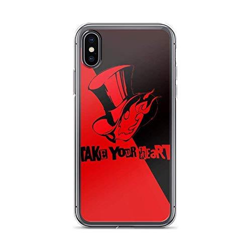 Gladiour Compatible con iPhone 11 12 Pro Max XR 6/7/SE 2020 Funda Persona 5 Royal New Artwork Japanese Game Pure Clear Funda protectora a prueba de golpes