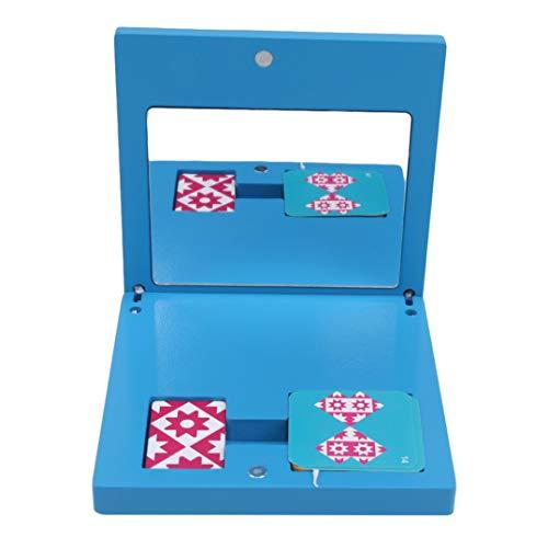 Weryffe Bloques de madera Montessori tempranos juguetes pedagógicos espejo imaging puzzles juguetes forma geométrica tanzgram