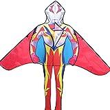 GFFTYX Kite - 1.6x1.8m Superman Ultraman Iron Man Spiderman Patrón de Personaje Spiderman Kite fácil de Volar es Muy Adecuado para niños y Adultos para Usar la Cometa del héroe (Color : H)