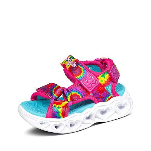 Skechers Girls Casual Sneaker, Hot Pink/Multi, 8 Toddler