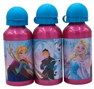 Gym Una Botella de Agua de Aluminio, cantimplora térmica a Prueba de Fugas sin BPA para Levar a la Escuela y Deportes el Termo 400ml para niños y niñas