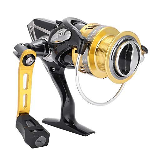 Alomejor Carrete de Pesca 5 + 1BB 7.1: 1 Carrete Giratorio de Metal de Alta Velocidad para la Pesca de Agua Salada al Aire Libre