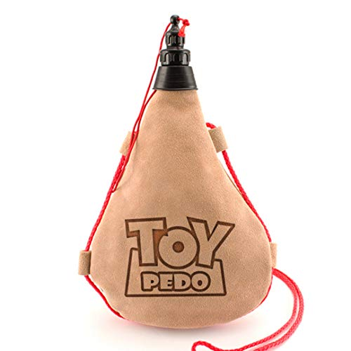 Bota de Vino Toy Pedo - Bota Vino Frases Divertidas y Originales para Regalo Fiesta 1 Litro