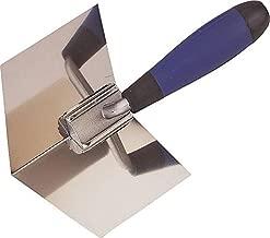 Edward Tools Drywall Corner Tool - Flexes for perfect 90 degree corner when mudding drywall - High grade stainless steel sheetrock corner trowel - Ergonomic grip
