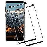 Miuphro Cristal Templado Compatible con Samsung Galaxy Note 8[2-Unidades], Alta Definicion+ Fácil Instalación+ 2.5d Borde Redondo+ 9H Dureza, Protector de Pantalla Samsung Galaxy Note 8