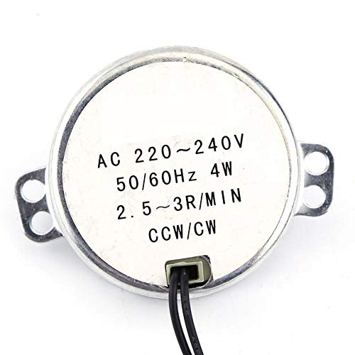 drehbar Synchronmotor 50 / 60Hz Frequenz AC 220~240V Getriebemotor CW/CCW 4W Mikrowelle(2.5-3RPM)