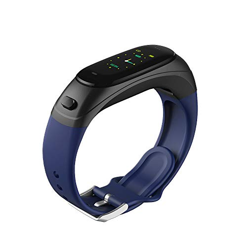 gongxi Color Screen to Communicate Intelligent Bracelet Watch Bluetooth Headset Combo Sports Step Count Measure Heart Rate Blood Pressure Sports Bracelet Health Bracelet Bluetooth Earphones