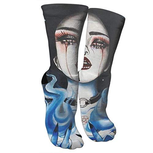 ouyjian Goth Gotik Gothic Women Girl Art Athletic Sports Calcetines,...