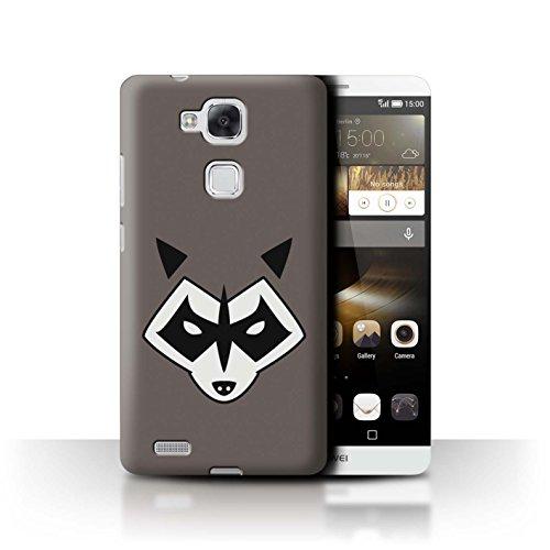 Hülle Für Huawei Ascend Mate7 Superheld Comic-Kunst Rocket Raccoon Inspiriert Design Transparent Ultra Dünn Klar Hart Schutz Handyhülle Case