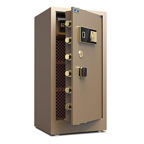 ReedG Caja de Seguridad Caja Fuerte for el hogar Digital Caja de Seguridad Rectángulo del Bloqueo de los gabinetes Fuerte de Dinero para Casa (Color : Coffee, Size : 50x45x100cm)