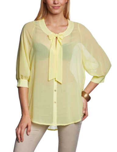 Tigerhill Damen Bluse Comfort Fit C-0635-P407 / Lala, Gr. 34/36 (S), Gelb (Light Yellow 0117)