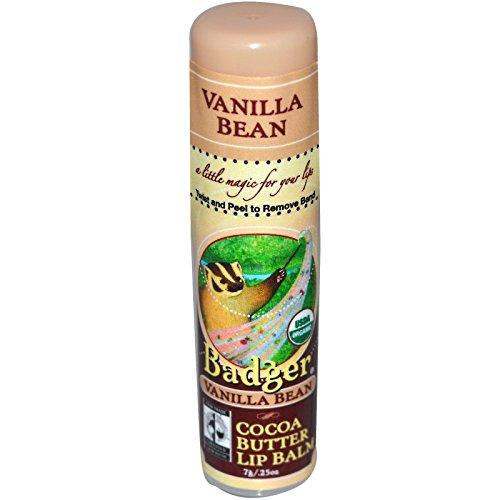 Beurre de cacao Lip Balm, la gousse de vanille, 0,25 oz (7 g) - Badger Company