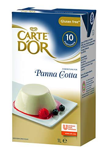 Carte d'Or Panna Cotta (Dessertcreme flüssig, mit feinem Vanillearoma) 2er Pack (2 x 1L)