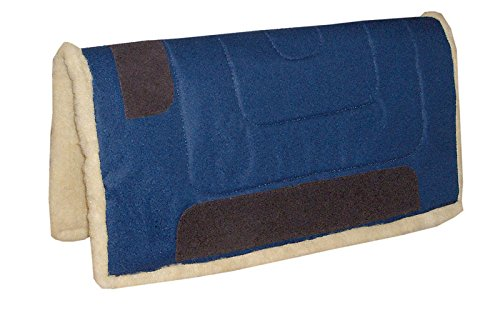 AMKA Westernpad BLAU Western Pad Inka mit Teddy Fleece Unterseite aus 100% Polyester, 75 cm lang x 80 cm breit, Lederverstärkt
