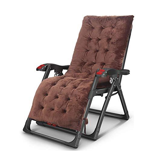 Tumbona reclinable Textoline sillones reclinables Cama Bastidor de Acero Resistente Debajo Presidente Adustable Respaldo Tumbona fácil Transporte Funda Almohada xiuyun