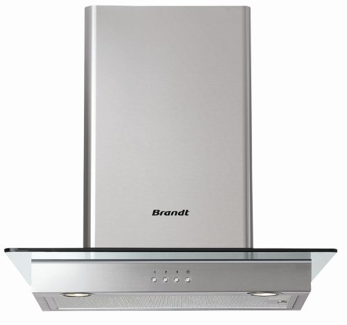 Brandt AD1186X Hotte Verre 60 cm Inox