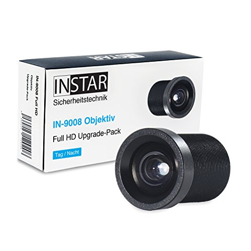 INSTAR 16mm Teleobjektiv IN-9008 Full HD/IP Kamera/Überwachungskamera/Objektiv/Zubehör/mehr Details auf weitere Entfernung/Tele/S-Mount / M12xP0.5