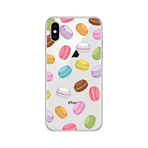 iPhone Xs Max Case,Blingy's Cute Sweet Food Style Transparent Clear Protective Soft TPU Rubber Case Compatible for iPhone Xs Max (Macaroon Style)