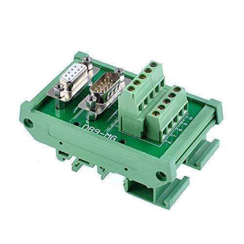 Oiyagai DB9 D-Sub Male & Female Header Breakout Board Terminal Board Block DIN Rail Mount Interface Module Connector