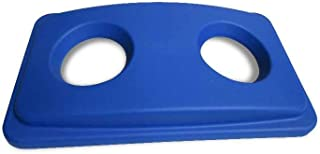 Blue Plastic Recycling Trash Can Lid - Fits 23 gal Slim Trash Can - 22
