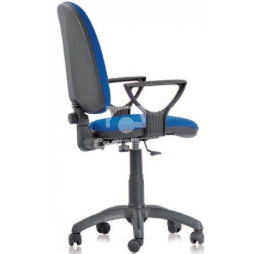 Poltrona poltroncina seduta operativa modello TORINO; poltrona su ruote; poltroncina con braccioli; con schienale reclinabile; in tessuto acrilico. Poltrona da ufficio; poltroncina da casa; seduta da ufficio operativa.