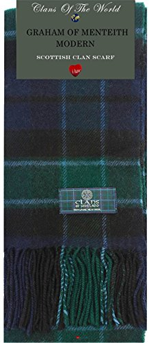 I Luv Ltd Graham of Menteith Modern Tartan Clan Scarf 100% Soft Lambswool