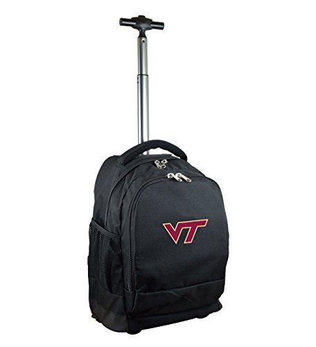 NCAA Virginia Tech Hokies Expedition Wheeled Backpack, 19-inches, Black