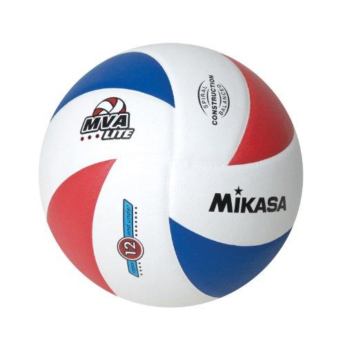 Mikasa Lite 8 Panel Offizieller Volleyball 12 und unter dem Volleyball (rot/weiß/blau, offiziell)