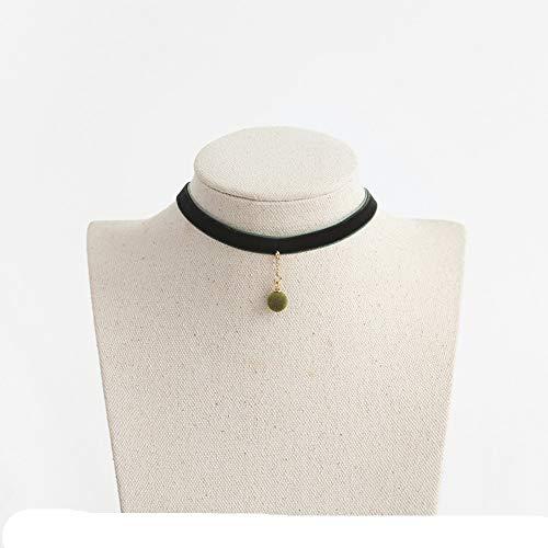 CLY necklace Halskette Samtperlenkette Kurze Schlüsselbeinkette Einfacher Wilder Schmuckhalsband