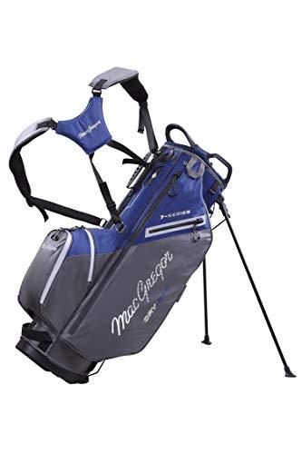 MACGREGOR MACTEC 7 Series - Bolsa para Palos de Golf Resistente al Agua, Color Azul Marino y Gris, Talla única