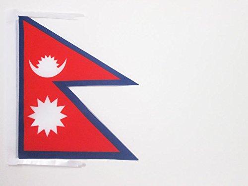 AZ FLAG Flagge Nepal 45x30cm mit Kordel - NEPALESISCHE Fahne 30 x 45 cm - flaggen Top Qualität
