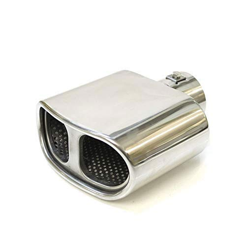 Boloromo 8318 Single Endrohr Auspuffblende Auto Performance Sport Schalldämpfer Universal Endrohr Edelstahl Chrom