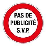 Adhésif Pas de Publicité S'il Vous Plaît - Diamètre 83 mm - Protection Anti-UV