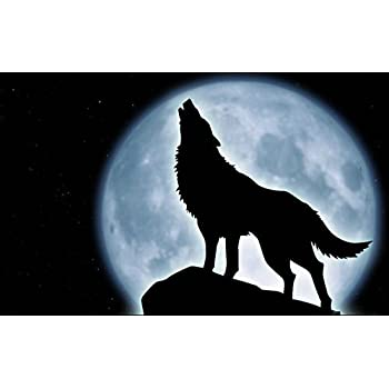 """HOWLING WOLF Vinyl Decal 5.25/"""" x 5/"""" 11 Colors"""