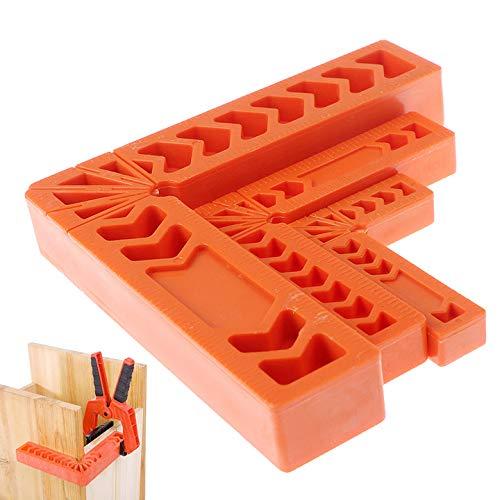 """6pcs 90 Grad rechts Winkel Klemme, Rechtwinklige Klemme Positionierwinkel 3"""",4"""",6""""Jedes enthält ein Paar, Holzbearbeitungswerkzeug für Bilderrahmen, Kästen, Schränke oder Schubladen"""