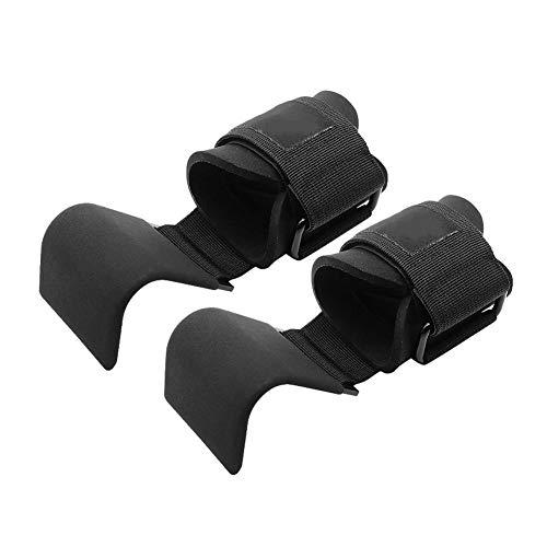ZHIXX MALL correas de gancho para levantamiento de pesas, agarres de muñeca ajustables antideslizantes para entrenamiento, levantamiento de pesas, barbilla acolchada, para levantamiento de potencia, levantamiento de pesas, culturismo, entrenamiento de fuerza