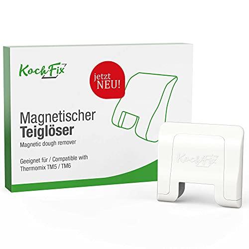NEU: KochFix Magnetischer Teiglöser Teigblume für Thermomix Mix-Topf, Messer-Drehhilfe hält magnetisch, Aufgeräumt & Griffbereit am Gehäuse des TM5 TM6, Zubehör Made in Germany