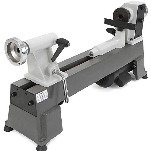 Cheap Thaweesuk Shop Grey Heavy Duty 5 Speed Bench Top Power Turning Wood Lathe Tools New 33x11x7