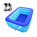 ECOiNVA Inflatable Swimming Pool Bathtubs Hot Tubs with Electric Air Pump (150cm)