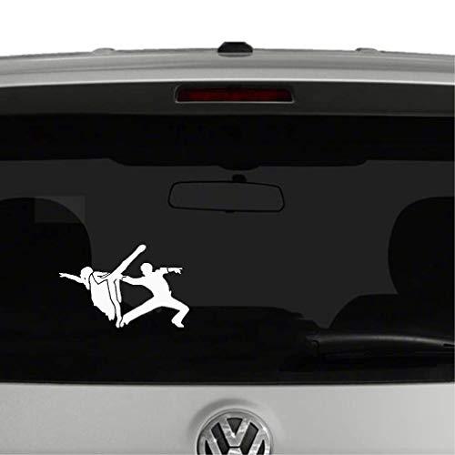 Sticker Aufkleber Auto 14.9x9.5 Interessante Mode Tanzen Ballett Fitness Dekor Auto Aufkleber für Auto Laptop Fenster Aufkleber