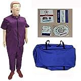 TZYY Trainingspuppe für CPR, Lebhaft Ganzkörper Erste-Hilfe-Puppe, Künstliche Beatmung...