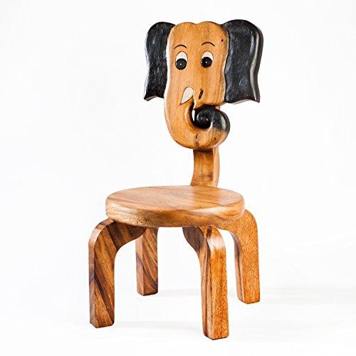 Silla infantil de madera maciza con diseño de elefante, altura de asiento de 25 cm para nuestro grupo de niños