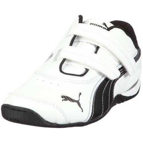 PUMA Drift Cat III L V Kids - Zapatos de Material sintético Infantil, Color Blanco, Talla 22
