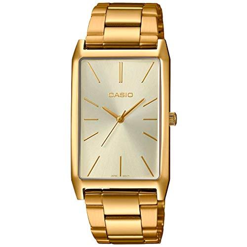 Casio Ltp-e156g-9adf Reloj Analógico para Mujer Caja De Acero Inoxidable Esfera Color Gold