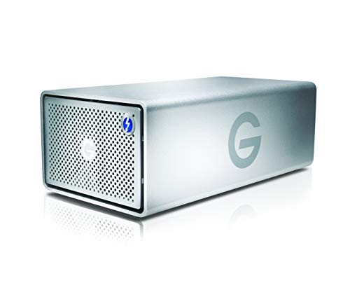 G-Technology 28TB G-RAID with Thunderbolt 3, USB-C (USB 3.1 Gen 2), and HDMI, Removable Dual Drive Storage System, Silver - 0G10414