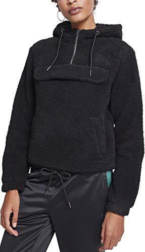 Urban Classics Ladies Sherpa Pull Over Hoodie Sweat-Shirt À Capuche, Noir (Black 00007), Medium Femme