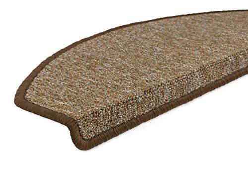 Tappeti per scale Tappetini Ramses semicircolare Set, Plastica, marrone, 16 pezzi